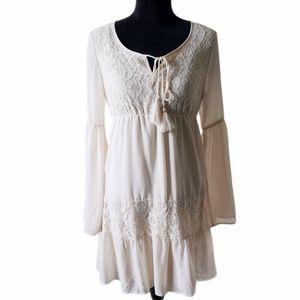 B2G1 NWT Flying Tomato Cream Boho Lace Dress